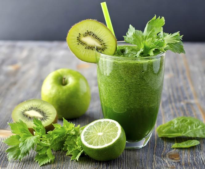 licuado verde para bajar de peso rápido