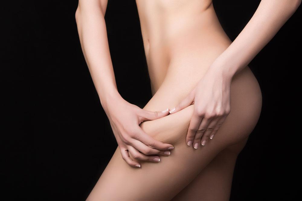 Chica que adelgaza muslo y pierna