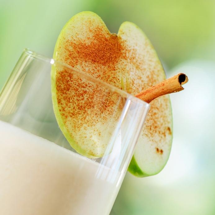 Licuado de avena con manzana