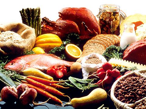 Comida saludable y variada