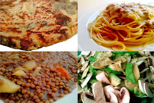 comidas para dieta vegana