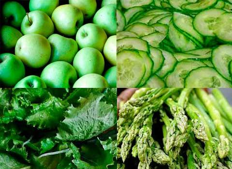 Ingredientes de ensaladas verdes