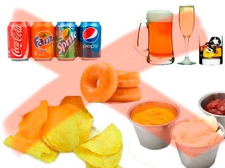 prohibido en dieta para bajar de peso