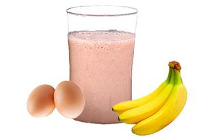 Licuado de proteínas de fresa