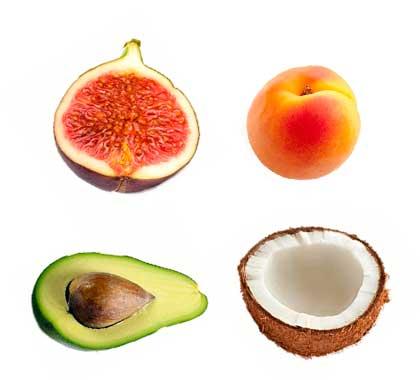 Frutas con proteinas