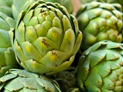 comida para menú de la dieta de alcachofa para adelgazar