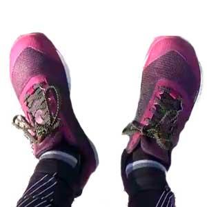 Zapatillas rosas para andar y adelgazar