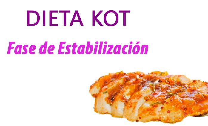 Fase de estabilización de Dieta Kot