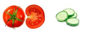jugo de tomate y pepino muy saciante