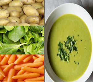 crema verduras ligera
