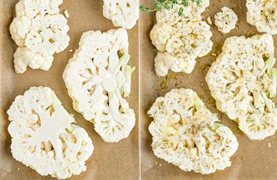 Filetes de coliflor naturistas