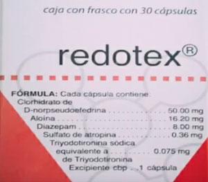 Pastillas Redotex
