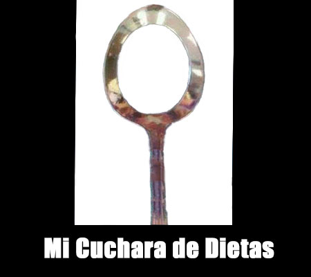 Imagen con frase chistosa: Mi cuchara de dietas